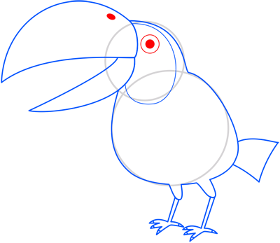 Learn easy to draw toucan step 08