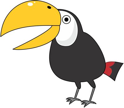 Learn easy to draw toucan step 10