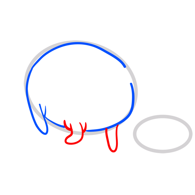 Learn easy to draw tree trunks step 03