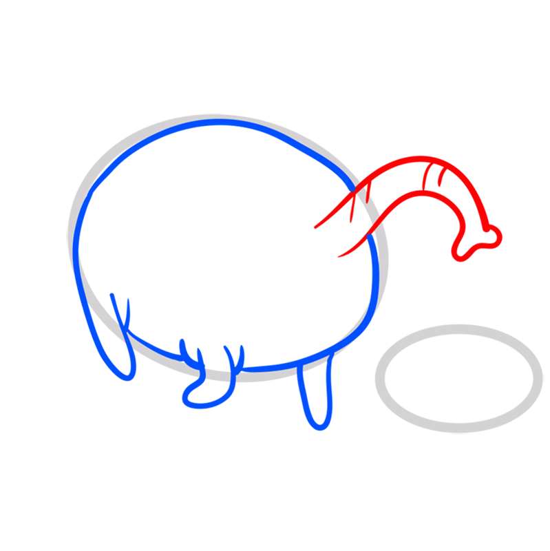 Learn easy to draw tree trunks step 04