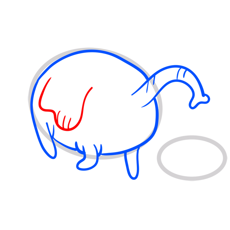 Learn easy to draw tree trunks step 05