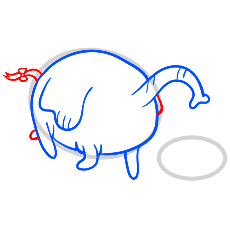 Learn easy to draw tree trunks step 06