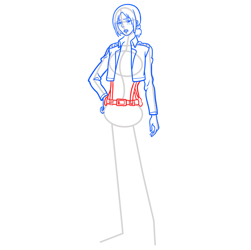 Learn easy to draw ymir step 07