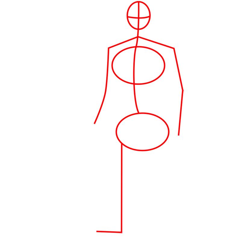 Learn easy to draw yokai step 01