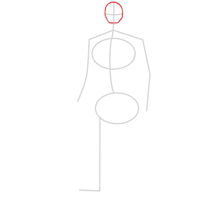 Learn easy to draw yokai step 02