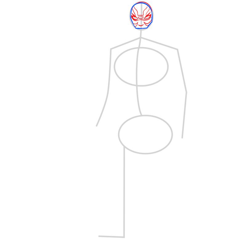 Learn easy to draw yokai step 03