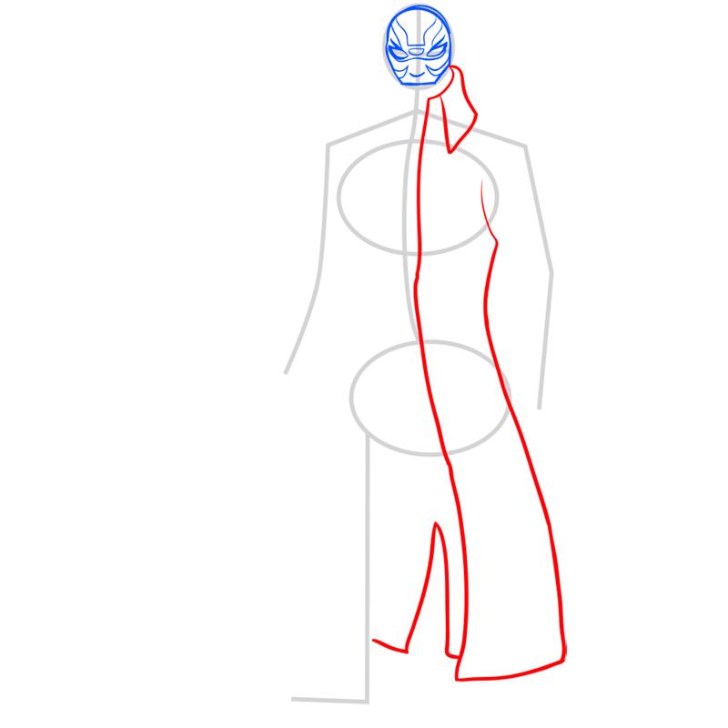 Learn easy to draw yokai step 04