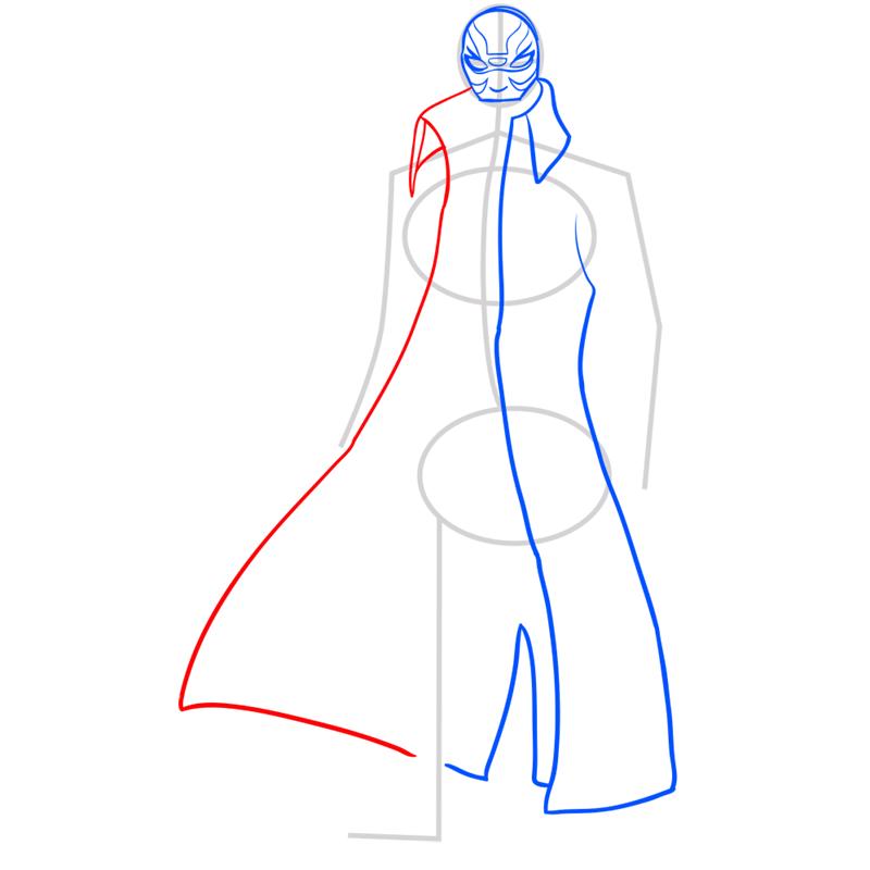 Learn easy to draw yokai step 05
