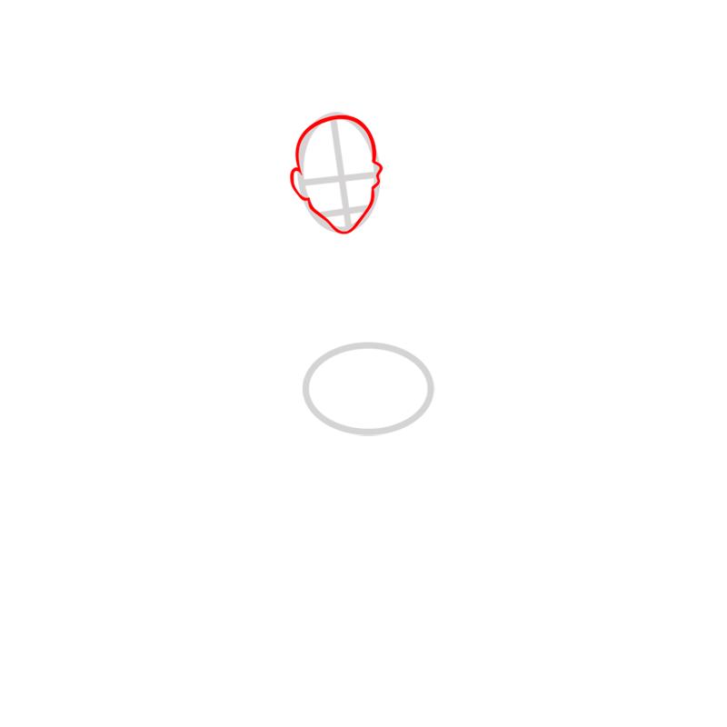 Learn easy to draw zuko step 02