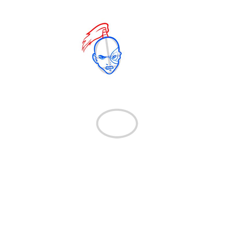 Learn easy to draw zuko step 04