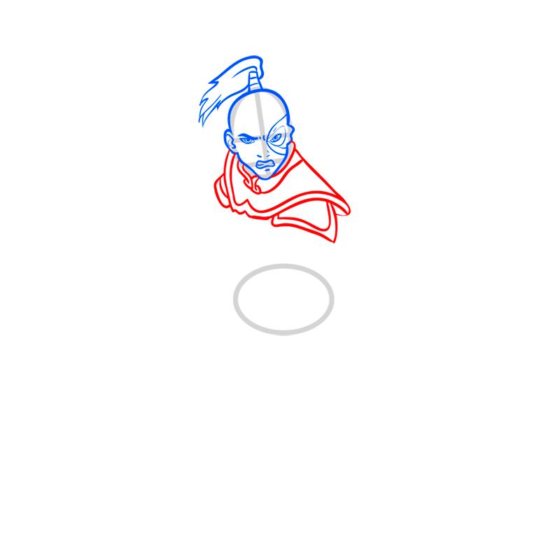 Learn easy to draw zuko step 05