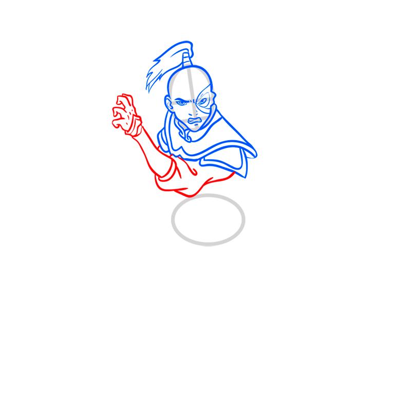 Learn easy to draw zuko step 06