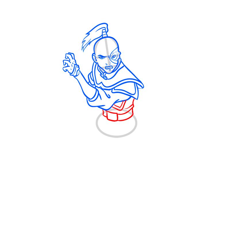 Learn easy to draw zuko step 07