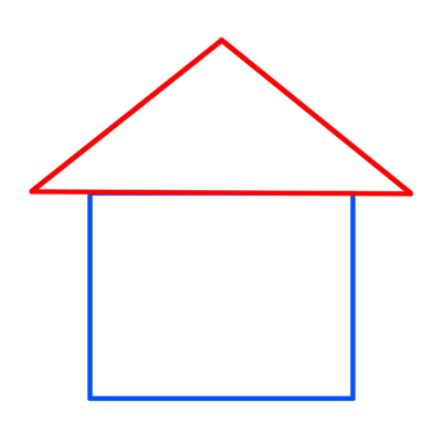 Learn easy to draw easy to draw house cartoon 2