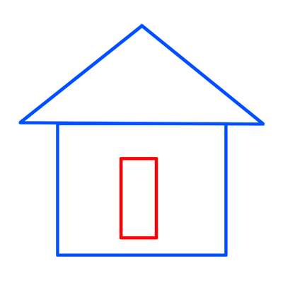 Learn easy to draw easy to draw house cartoon 3