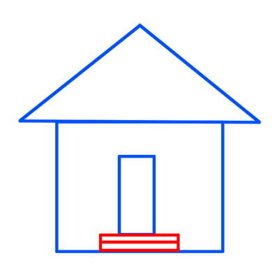 Learn easy to draw easy to draw house cartoon 4