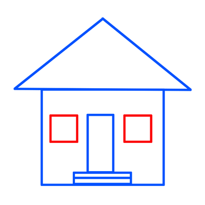 Learn easy to draw easy to draw house cartoon 5