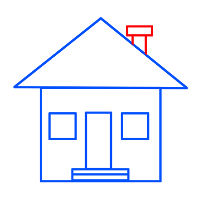 Learn easy to draw easy to draw house cartoon 6