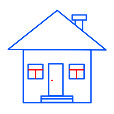 Learn easy to draw easy to draw house cartoon 7