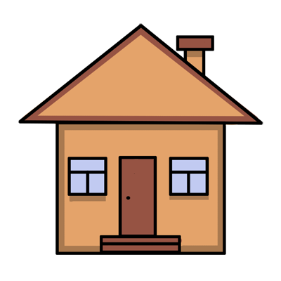 Learn easy to draw easy to draw house cartoon 9
