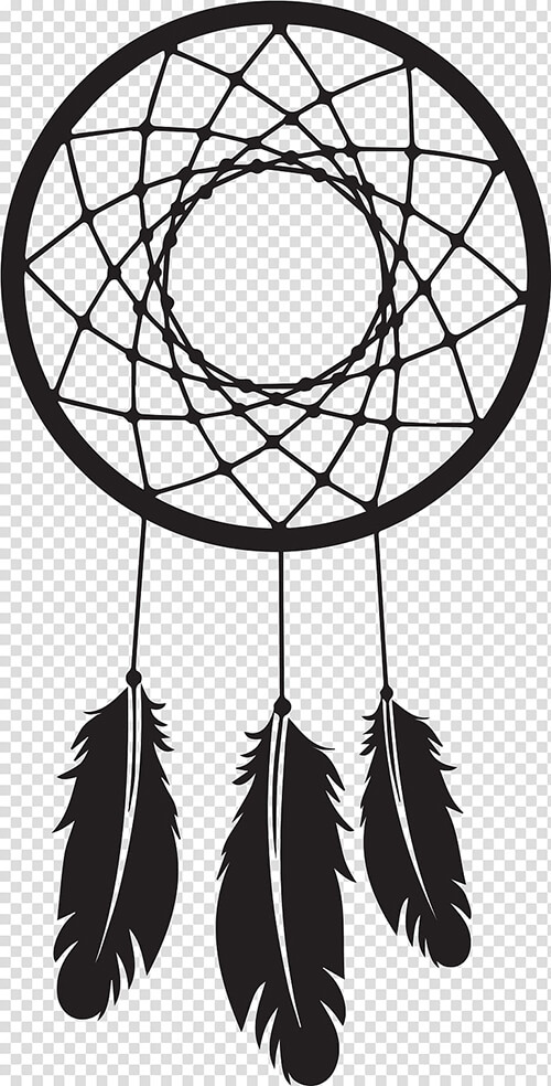 Learn easy to draw dream catcher with falling feathers drawing 8