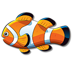 Learn easy to draw how easy to draw a clown fish icon