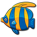 Learn easy to draw how easy to draw a color fish icon