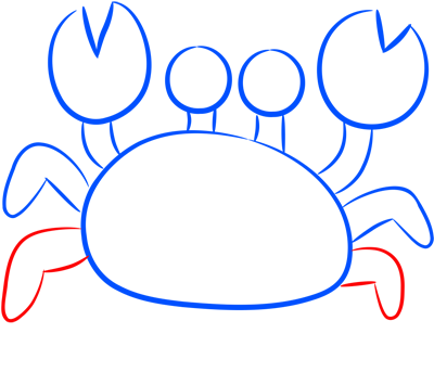 Learn easy to draw how easy to draw a crab 6