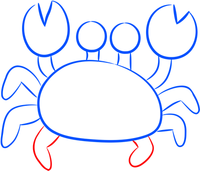 Learn easy to draw how easy to draw a crab 7