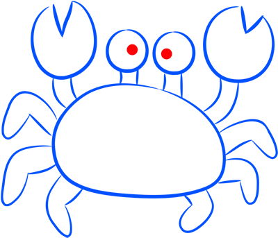 Learn easy to draw how easy to draw a crab 8