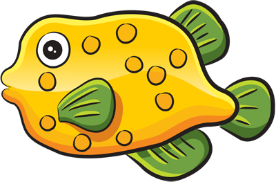 How easy to draw a funny fish step by step drawings