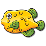 Learn easy to draw how easy to draw a funny fish icon