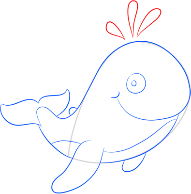 Learn easy to draw how easy to draw a funny whale 8