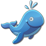 Learn easy to draw how easy to draw a funny whale icon