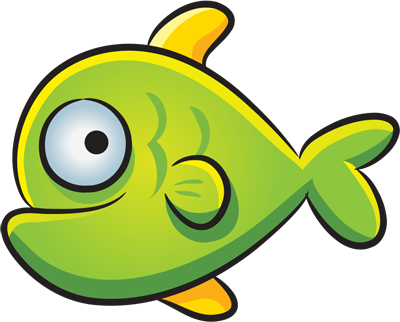 How easy to draw a green fish step by step drawings
