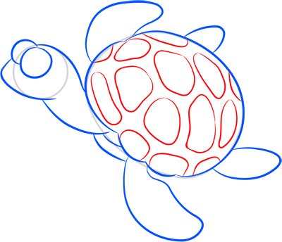 Learn easy to draw how easy to draw a little turtle 7