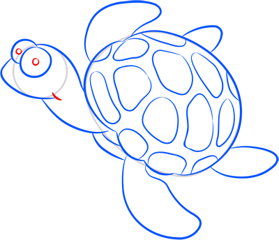 Learn easy to draw how easy to draw a little turtle 8