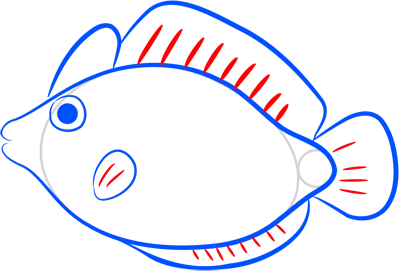 Learn easy to draw how easy to draw a pink fish 7