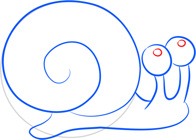 Learn easy to draw how easy to draw a snail 6