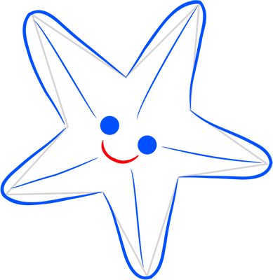 Learn easy to draw how easy to draw a starfish 5