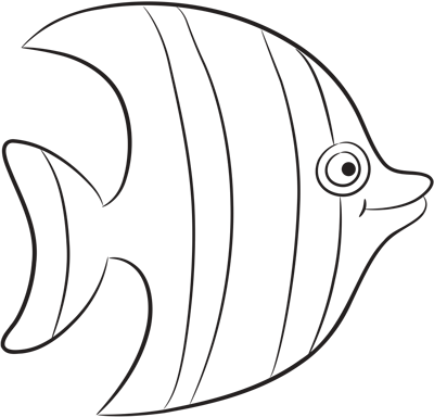 Learn easy to draw how easy to draw a striped fish 7