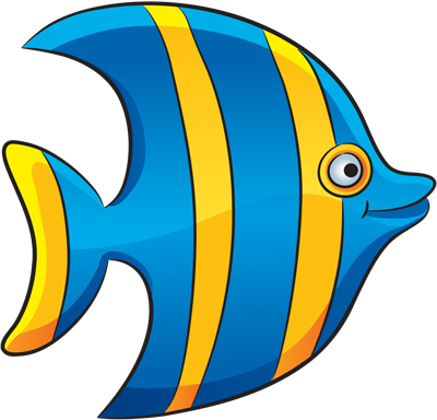 How easy to draw a striped fish step by step drawings