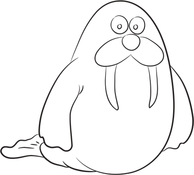 Learn easy to draw how easy to draw a walrus 11