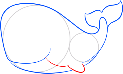 Learn easy to draw how easy to draw a whale 4