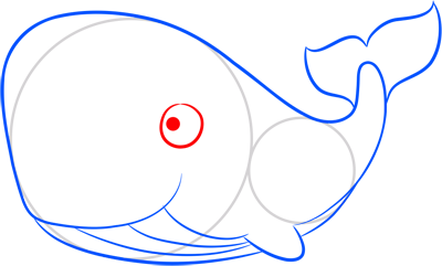 Learn easy to draw how easy to draw a whale 6