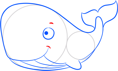 Learn easy to draw how easy to draw a whale 7