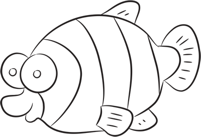 Learn easy to draw how easy to draw a yellow fish 9