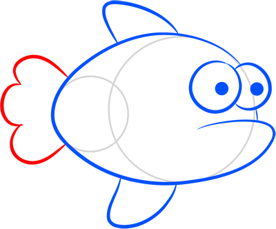 Learn easy to draw how easy to draw an orange fish 5