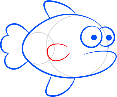 Learn easy to draw how easy to draw an orange fish 6