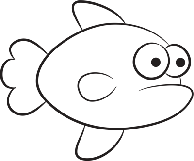 Learn easy to draw how easy to draw an orange fish 7